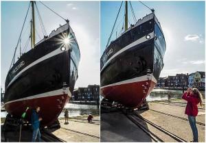 Tonnenleger Hildegard - eines der meistfotografierten Husumer Hafenmotive