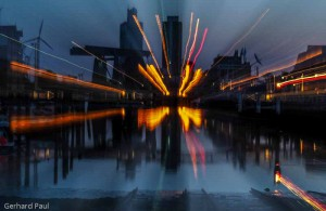 Blaue Stunde am Husumer Hafen