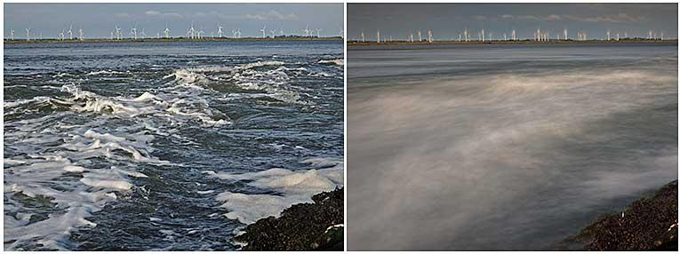 Wasser und Wind: mit Belichtungszeiten spielen