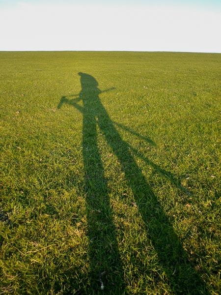 Schatten mit Stativ